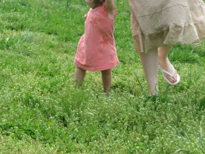 Lillian's journey at 18 months with Mom close by...