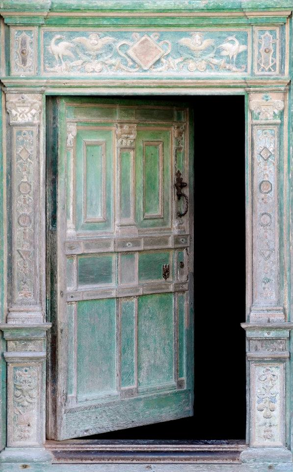 door open green