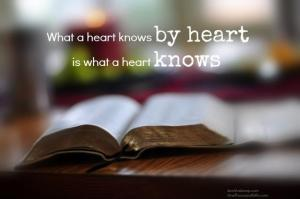 what a heart knows