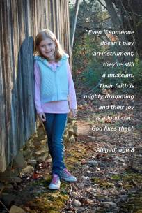 Abigail with quote