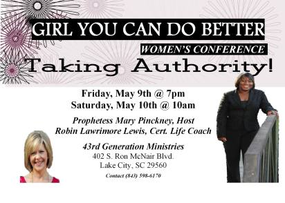 Conference with Mary Pinckney