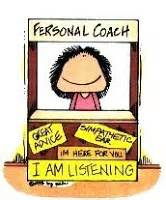 life coach stand cartoon