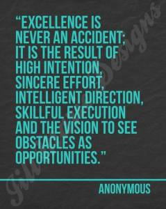 excellence, obstacles, problem, opportunity