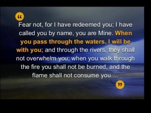 Isaiah 43 2, pass through waters