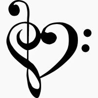 music notes 3 heart