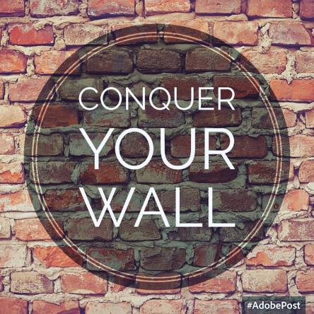conquer, wall, fear, goals