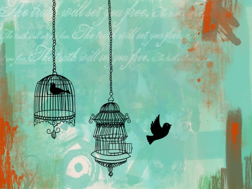 free, truth, birds, cage