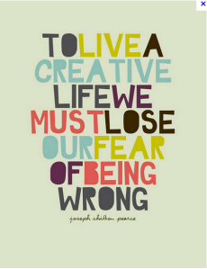 wrong, fear, creative